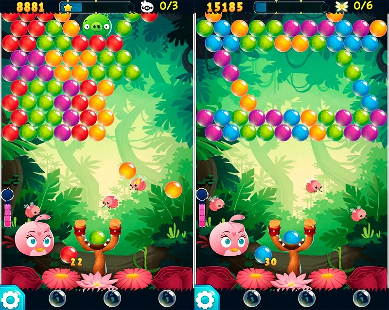 angry birds pop bubble shooter review