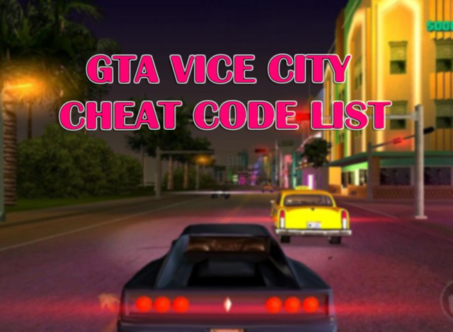 Grand Theft Auto: Vice City Cheats & Codes For PC – Apk