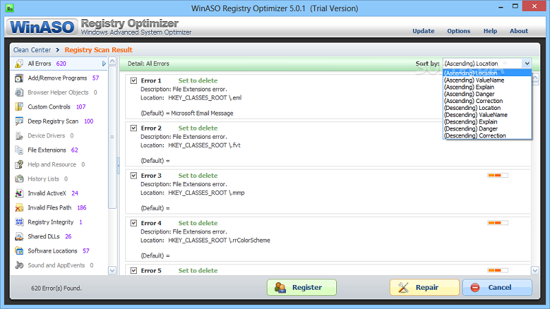 winaso registry optimizer license key