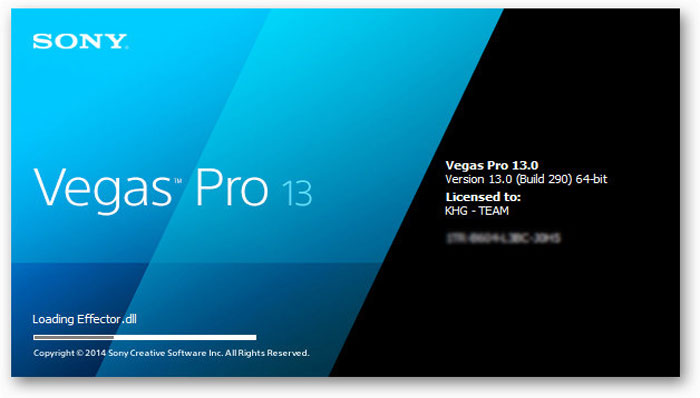 sony vegas pro 13 serial number 1st